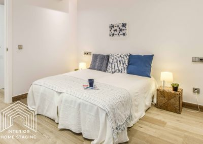 Interior Home Staging dormitorio doble 2
