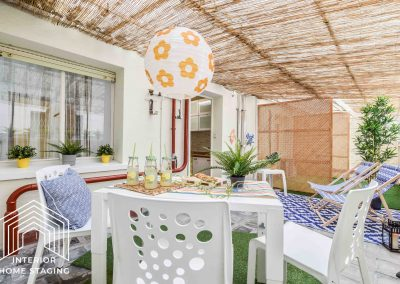 Home Staging patio Cuzco Madrid