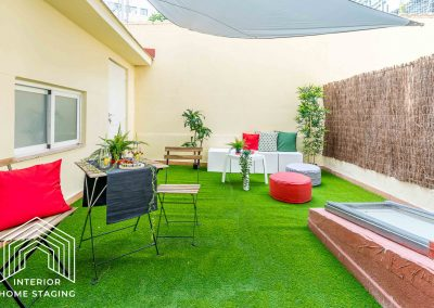 Home Staging patio casa Chamberi