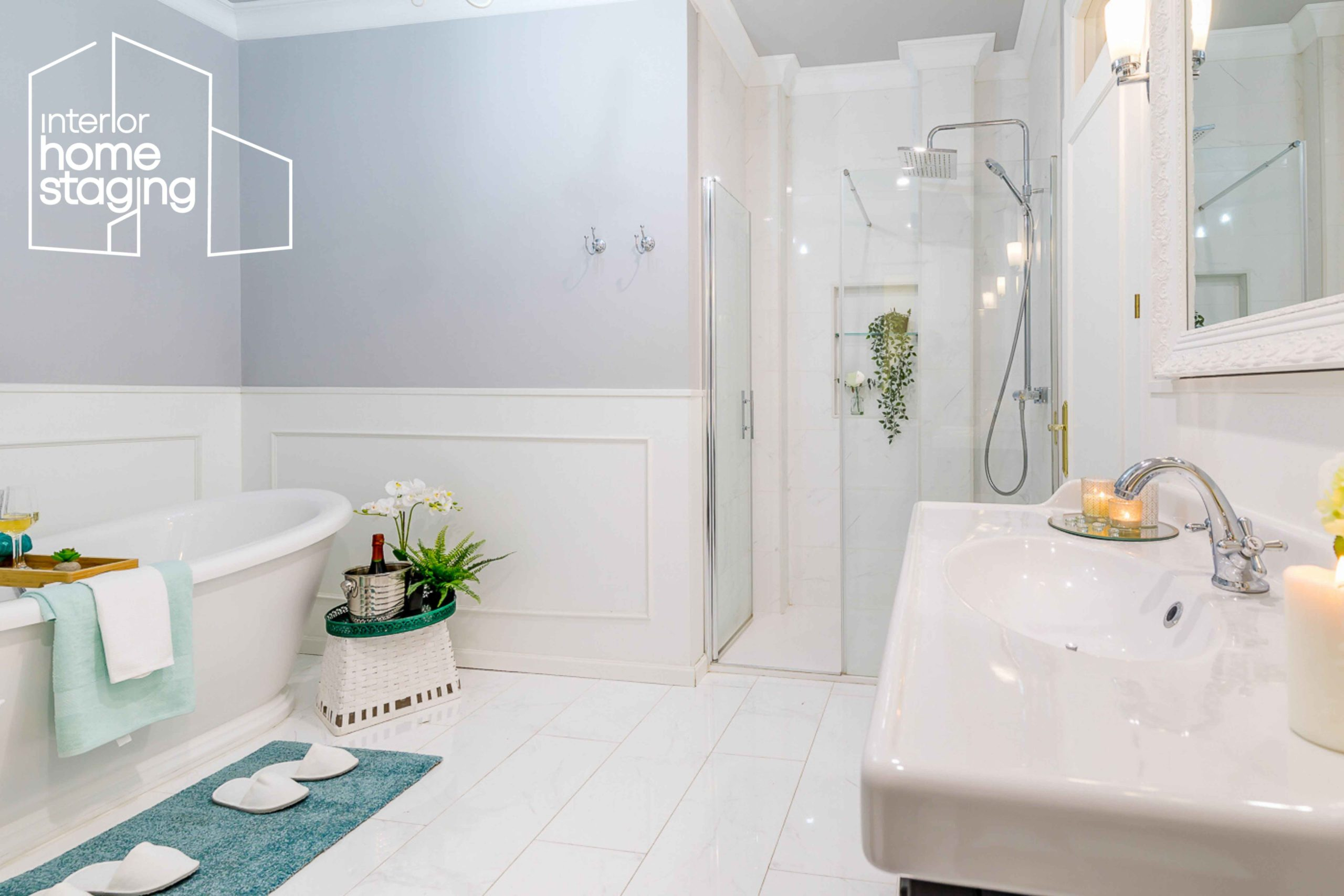 Home Staging baño casa en venta Madrid