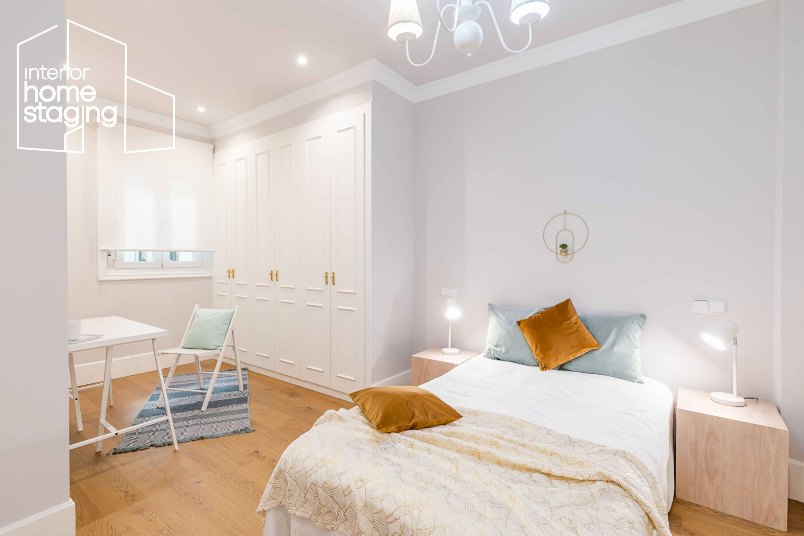 Home Staging dormitorio casa en venta Goya Madrid