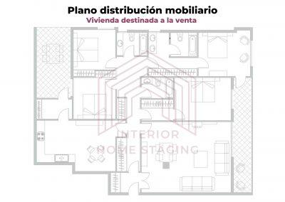 Plano Home Staging vivienda venta