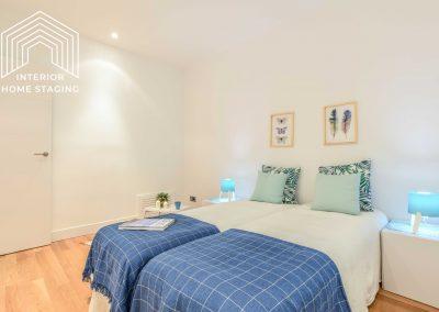 Interior Home Staging Chamberi dormitorio azul 2