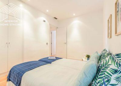 Interior Home Staging Chamberi dormitorio azul 3
