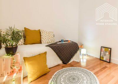 Interior Home Staging Chamberi dormitorio patio 2