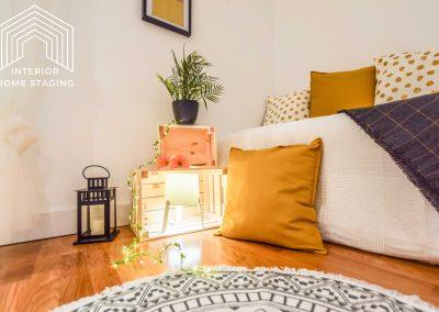 Interior Home Staging Chamberi dormitorio patio 3