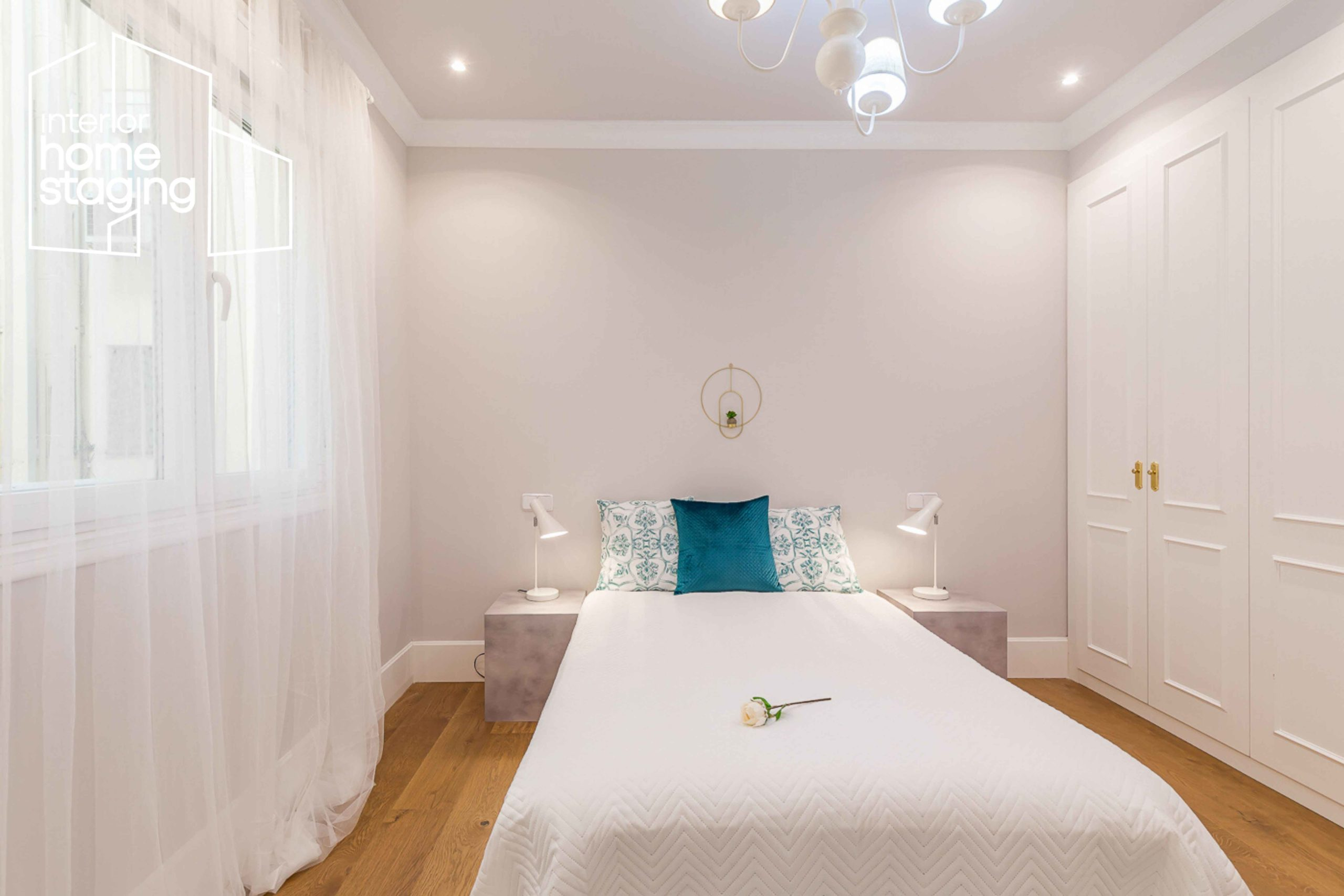 Decoración dormitorio casa en venta Barrio Salamanca Madrid