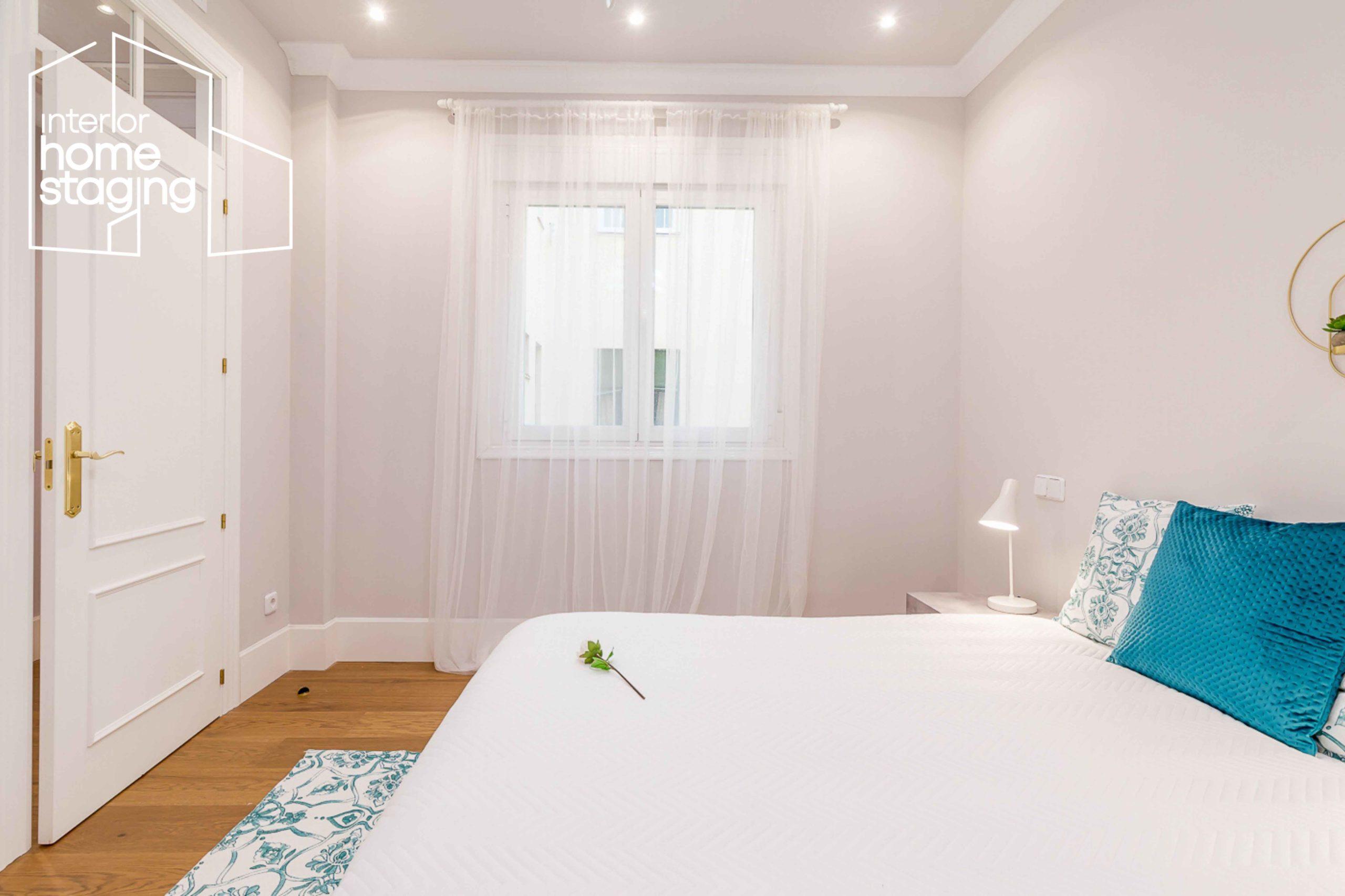 Decoración dormitorio casa en venta Madrid