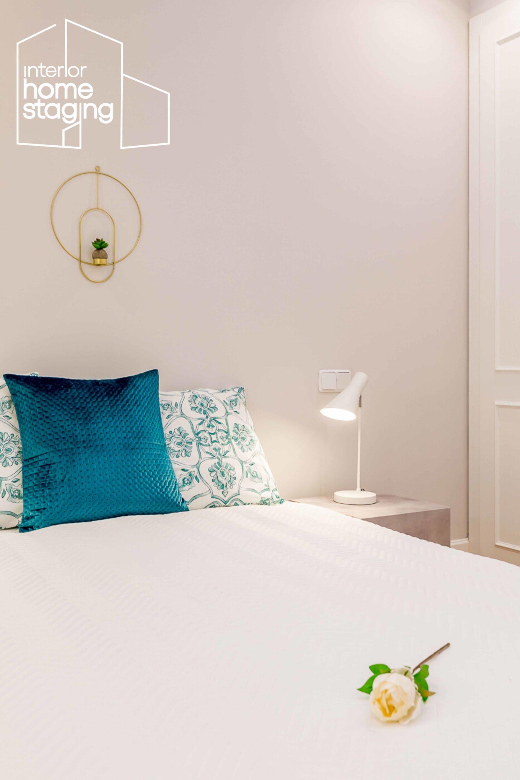 Decoración dormitorio vivienda en venta Barrio Salamanca Madrid 2
