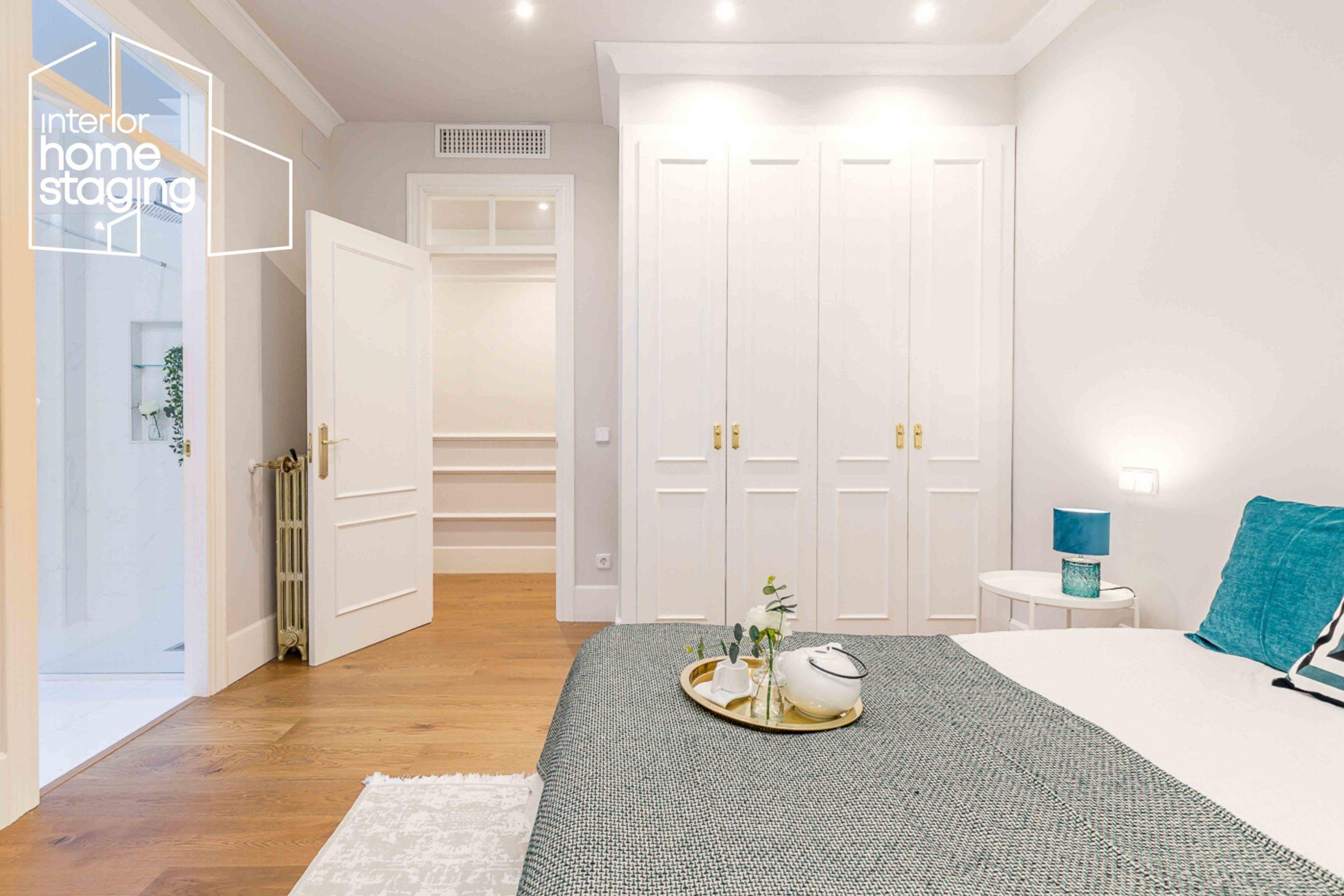Decoración dormitorio vivienda en venta Barrio Salamanca Madrid