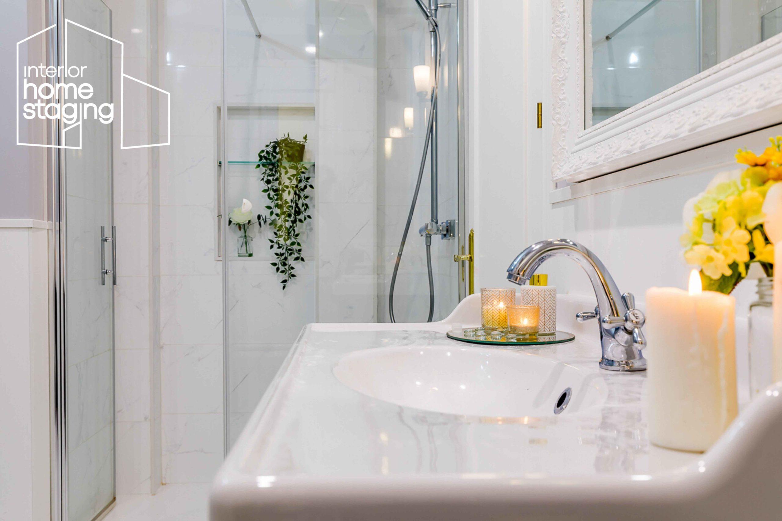 Home Staging baño casa en venta Goya