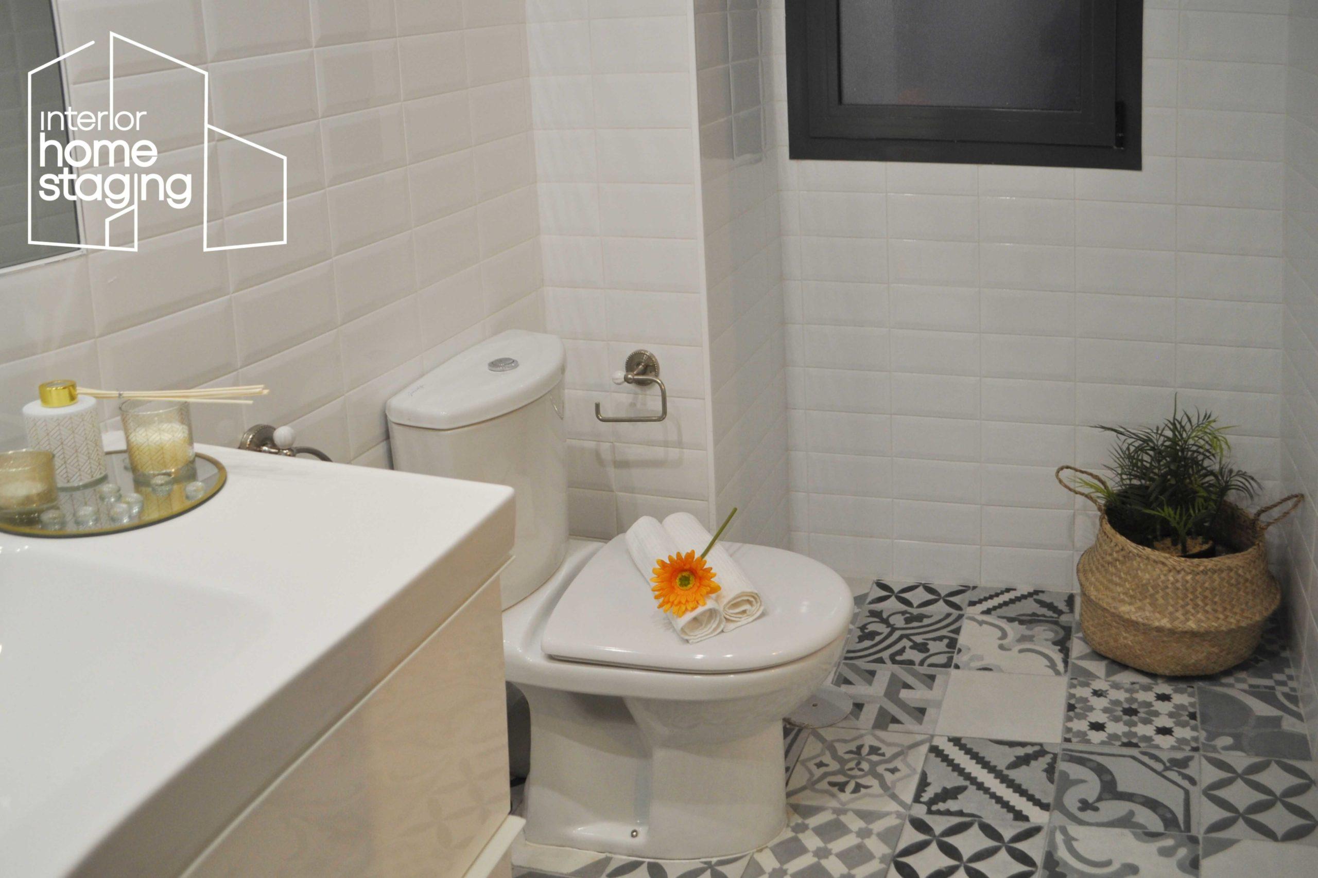 Home Staging baño vivienda de alquiler Madrid