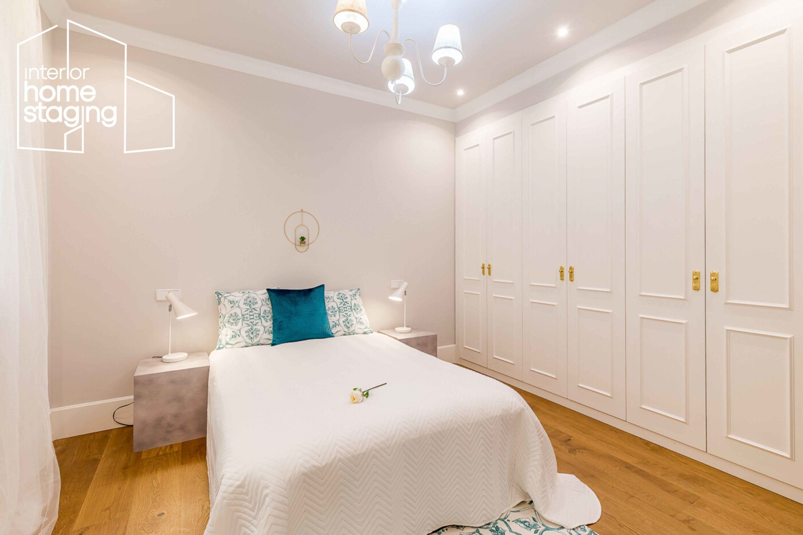 Home Staging dormitorio casa en venta Barrio Salamanca Madrid