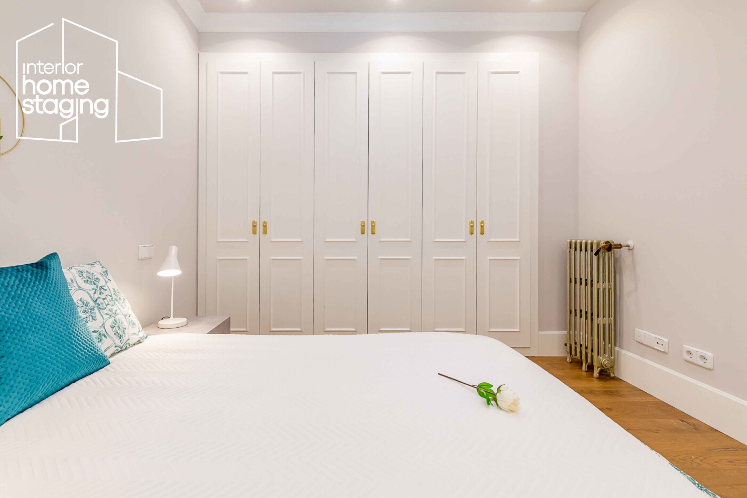 Home Staging dormitorio casa en venta Barrio Salamanca