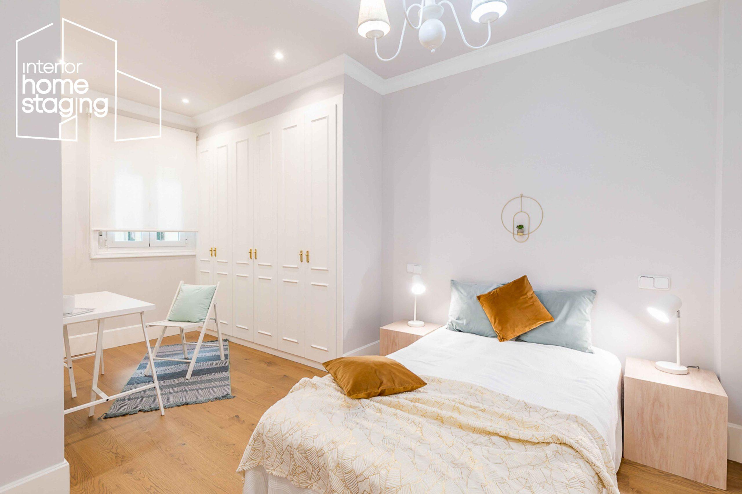 Home Staging dormitorio casa en venta Goya Madrid