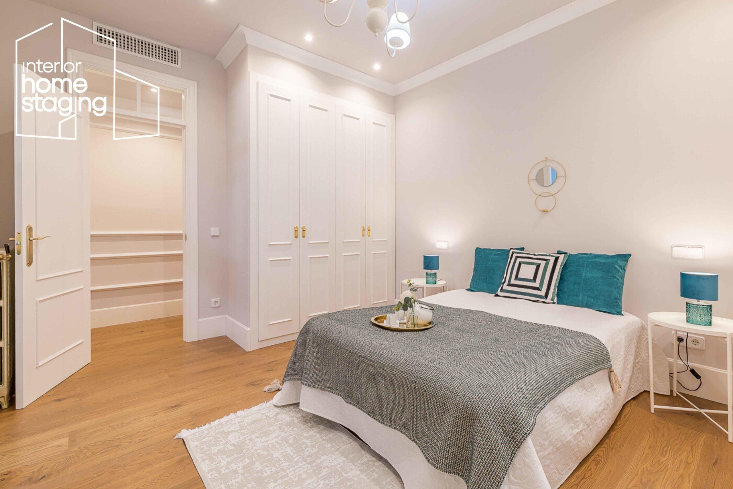 Home Staging dormitorio vivienda venta Barrio Salamanca Madrid