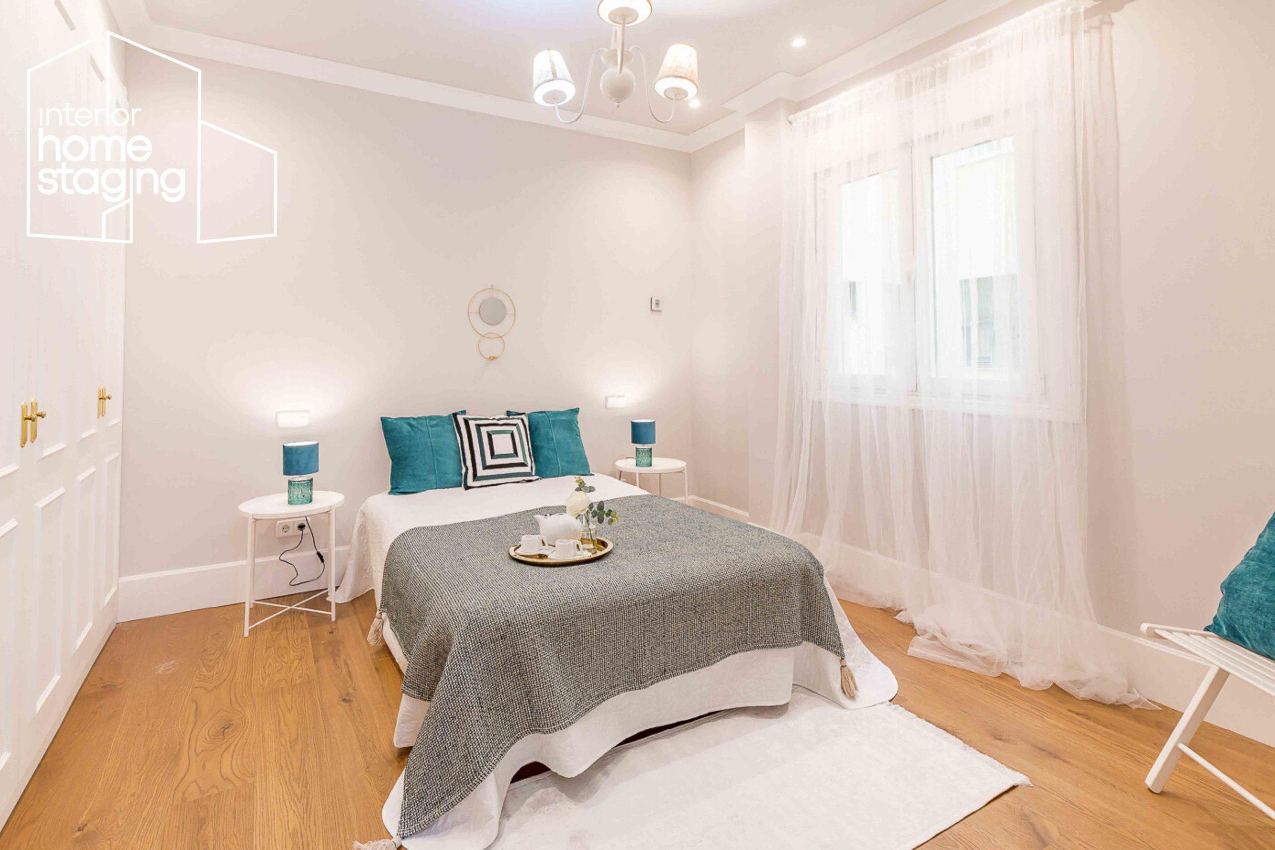 Home Staging dormitorio vivienda venta Barrio Salamanca